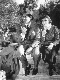 Pinned a trillion times, but I adore it.  Clark Gable, Claudette Colbert - It Happened One Night (Frank Capra, 1934)