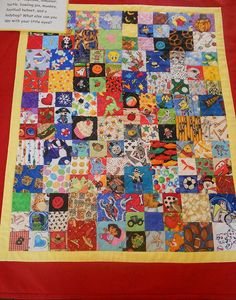 i spy quilt... LOVE this idea.