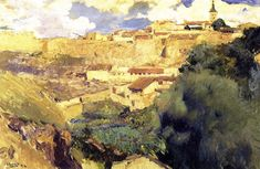 The Athenaeum - Walls of Segovia (Joaquin Sorolla y Bastida - ) Building Painting, Building Art, Spanish Painters, Spanish Artists, Abstract Landscape, Landscape Paintings, Art Paintings, Abstract Art, European Paintings