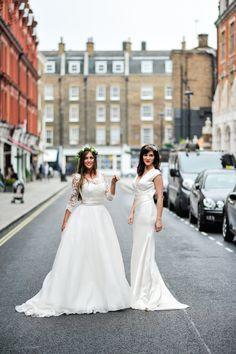 Duchesse Dress and Lena Dress #duchessedress #lenadress #elizabethtodd #bridal #romantic #wedding #vintage #chilternst #lace #glamour #satin