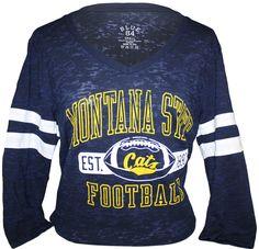 Ladies burnout, 3/4 length sleeves, Montana State Bobcats