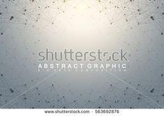 Geometric graphic background molecule and communication. Big data complex with compounds. Lines plexus, minimal array. Digital data visualization. Scientific cybernetic vector illustration