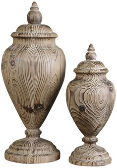 Uttermost Set of 2 Brisco Solid Wood Finials |