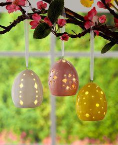 Set of 3 Ceramic LED Easter Eggs | LTD Commodities