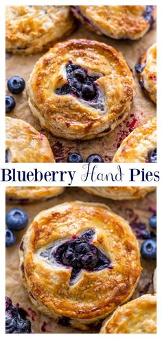 Blueberry Hand Pies - An Easy Blueberry Hand Pie Recipe - An Easy Blueberry Hand Pie Recipe! Flaky crust and gooey blueberry filling! Köstliche Desserts, Delicious Desserts, Dessert Recipes, Yummy Food, Dessert Blog, Plated Desserts, Blueberry Hand Pies Recipe, Blueberry Recipes For Two, Blueberry Pie Fillings