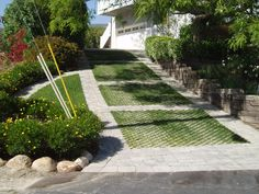 Turfstone with paver outline