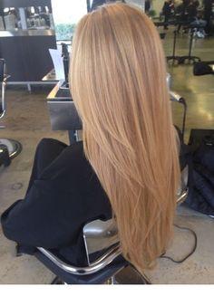 Lights caramel straight hair | Inspiring Ladies