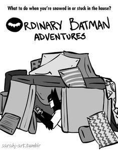 I'm not saying I'm Batman.but nobody has ever seen me and Batman in the same fort. Marvel Dc, Batman Pillow, Superman, Batman Love, Batman Cat, Funny Batman, Batman Cartoon, Batman Stuff, Batman Arkham
