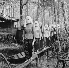 #Activists meet in the Nam Can forest wearing masks to hide their identities from one another in case of capture and interrogation. Vietnam 1972 [1200x1188] #history #retro #vintage #dh #HistoryPorn http://ift.tt/2gMYIFG