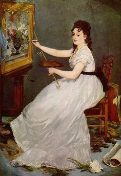 Manet, Edouard (1832-1883) - 1869-70 Portrait of the Artist Eva Gonzales, his student (National Gallery, London)