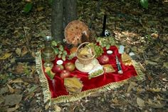 Altar in the leaves