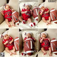 huge selection of 352bb f7297 Infant Atlanta Falcons White Bodysuit, Bib & Cap Set