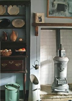 english-country-cottage-hearth by Maxine Small