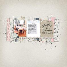 #papercraft #scrapbook #layout.  Life is good.