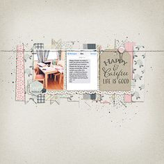 #papercraft #scrapbook #layout.  Life is good.