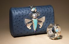 Clutch and cuff, Victoria Adams, Southern Cheyenne and Arapaho