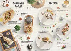 Summer menu on Behance Restaurant Website Design, Cafe Menu Design, Food Menu Design, Food Poster Design, Menu Restaurant, Restaurant Identity, Food Graphic Design, Design Design, Menu Layout