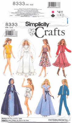Free Copy of Pattern - Simplicity 8333