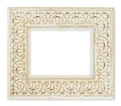 007b19c9908a tabletcouture.com Wide Distressed White Ornate Frame for iPad® or other  tablets
