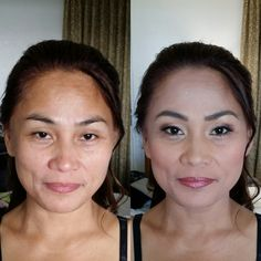 This lovely Filipino bride has the most beautiful cheek bones and bone structure. It just took a little bit of contouring to bring everything out. Bring It On, Take That, Contouring, Wedding Make Up, Filipino, Bones, Most Beautiful, Asian, Bride