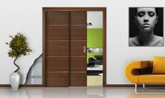 Double pocket door counter frame - for open space
