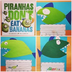 Day 13 - f is for fish! #teacherspicadaymay we read Piranhas Don't Eat Bananas today, and practised some rhyming words. I modelled…