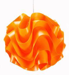 Sculptural Hanging Pendant Lamp (Orange)
