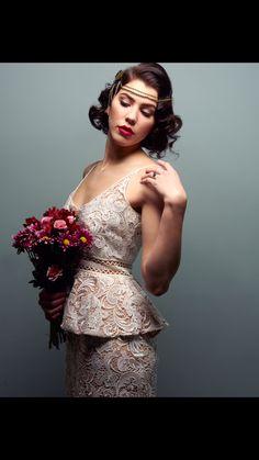 angelamorrismakeup.com Vintage bridal makeup look. Model: Ava Montelena Photographer: Mark Basel Hair: Emily Raczynski