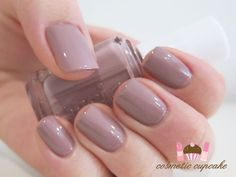 Trending mauve nail color