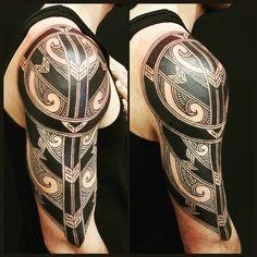 From today #contemporary #maori #polynesian #freehand #blackwork #tattoo #tatau #tattooartist @calenparis