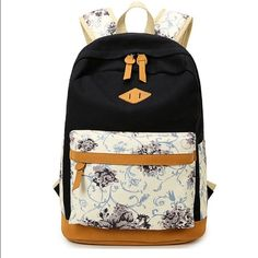 "Girl's Canvas School Backpack Material: Canvas Vintage Lightweight Casual Canvas Floral Pattern Adjustable padded shoulder straps for carrying comfort Approx Dimensions:11.8"" L x 17.3"" H x 6.69""D Capacity: 22L (medium capacity), compatible for laptop HITOP Casual Canvas Floral Wisteria Backpack Bag, Fashion Cute Lightweight Backpacks for Teen Young Girls Bags Backpacks"