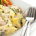 Penne with Chicken, Mushrooms and Tarragon Cream Sauce