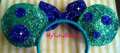 MONSTERS INC. Sully Inspired Minnie Mouse Ears by mytutubows
