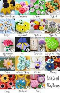 Flower cookies decorating ideas! - Where Home Starts