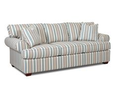 This sofa is perfect to come home too after a long day. It offers rolled arms, t-style seat and back cushions, two arm pillows plus low profile legs. 2 toss pillows are included.