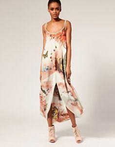 Bolongaro Trevor Botanical Dress in Digital Print Asos Online Shopping, Latest Fashion Clothes, Digital Prints, Women Wear, Summer Dresses, Website, Watch, Dark
