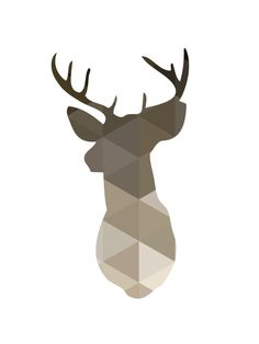 Printable brown and beige deer head antlers wall art    ===      Print out this modern wall artwork from your home computer or local print shop to style and decorate your home or office! Print includes: 1 JPG files & 4 PDF files    Your order will include one (1) JPG & four (4) PDFs with different sizes. Youll get every single file described below! Having these multiple files helps ensure that you can print the design at your home or local print shop, however you decide...