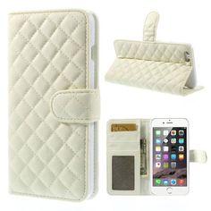Köp Plånboksfodral Apple iPhone 6 Plus Quilted vit online: http://www.phonelife.se/planboksfodral-apple-iphone-6-plus-quilted-vit