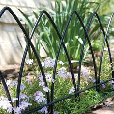 Steel Fence Edging distinguishes your garden Here's a great way to outline your garden or highlight a special section. Our steel fence edging features classic designs.