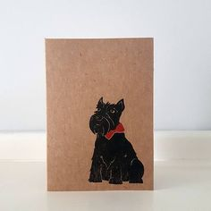 Check out this item in my Etsy shop https://www.etsy.com/uk/listing/526916885/scottie-dog-greeting-card-mini-a7-note