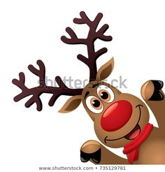drawing of funny red nosed reindeer. ,Christmas drawing of funny red nosed reindeer. Reindeer Drawing, Xmas Drawing, Christmas Drawing, Christmas Paintings, Cartoon Reindeer, Christmas Rock, Christmas Crafts, Christmas Decorations, Christmas Ornaments