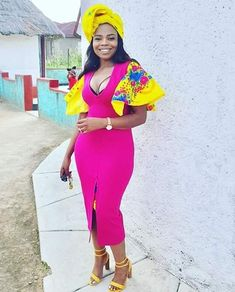 I love latest african fashion look 3882996966 Tsonga Traditional Dresses, South African Traditional Dresses, Traditional Wedding Dresses, Traditional Outfits, Traditional Design, Xhosa Attire, African Attire, African Wear, African Dress