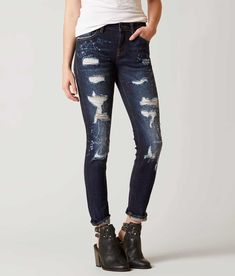 Remix by Rock Revival® Skinny Stretch Jean - Women's Jeans in Destroyed Indigo | Buckle
