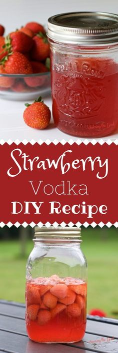 This recipe for homemade strawberry vodka is a must for every summer cocktail list. Zero artificial colors or flavors. You will never buy strawberry vodka in a store again! Drinks Alcohol Recipes, Yummy Drinks, Drink Recipes, Alcoholic Drinks, Winter Recipes, Margarita Recipes, Fun Drinks, Cold Drinks, Alcohol Shots