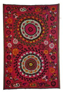 A red vintage suzani at a great price!