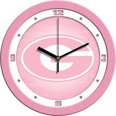 Grambling State Tigers Pink Wall Clock
