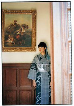 古典や伝統を踏まえつつモードを取り入れた伊勢丹オリジナルの仕立上がり浴衣