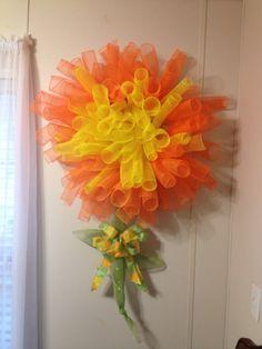 Deco mesh flower