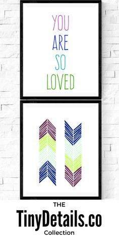 You are so loved. Nursery art, nursery décor, nursery quotes, modern nursery, nursery artwork, kids, baby, and nurseries all at www.tinydetails.co