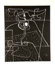 Original Grafik Le Corbusier, Graphique original Le Corbusier,   Titel: Toreau,  Technik: Lithografie